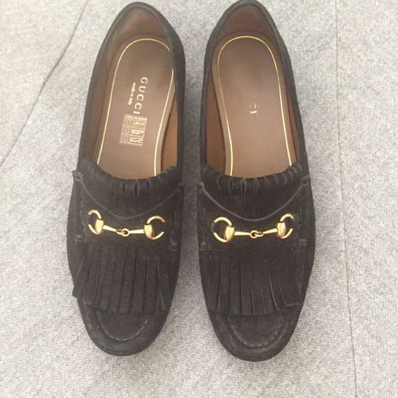 Gucci Shoes Black Suede Loafers Poshmark